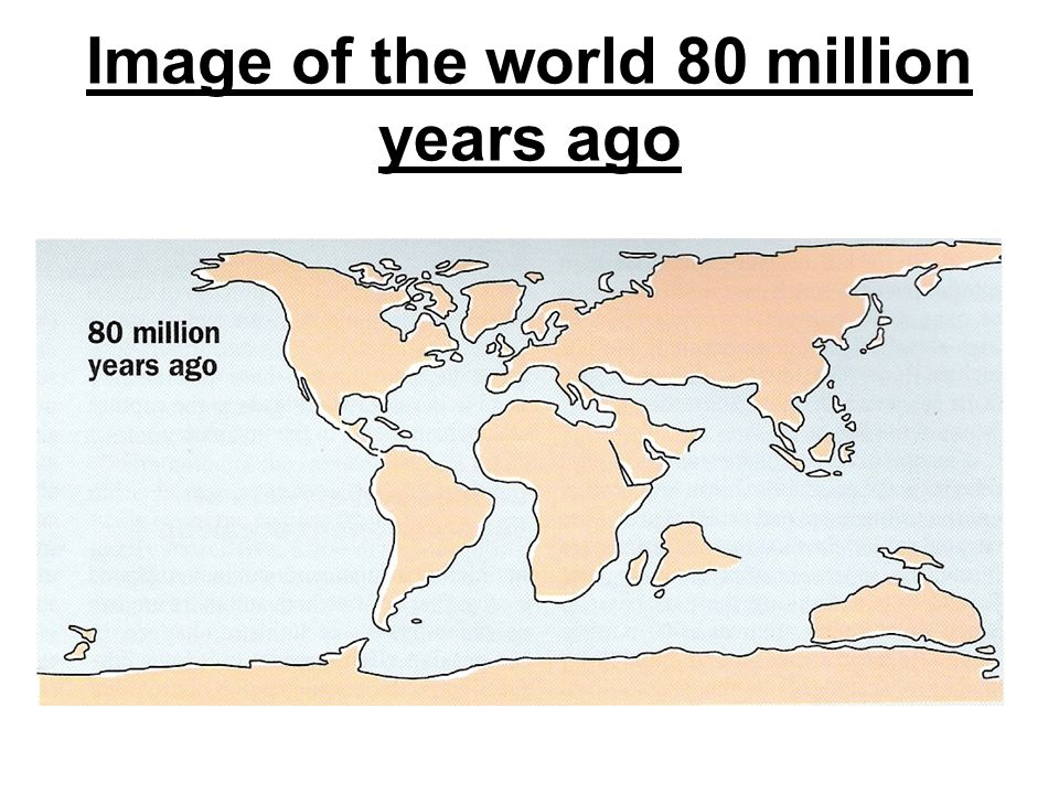 Image of the world 80 million years ago
