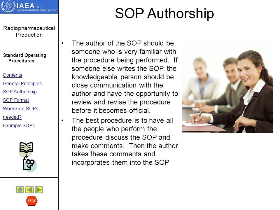 SOP Authorship