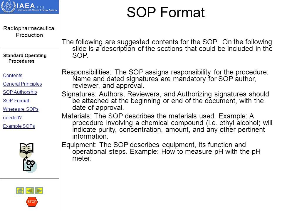 Sop Format. Quality Square Industry 16; 17 Text Format Of Sop• Sop