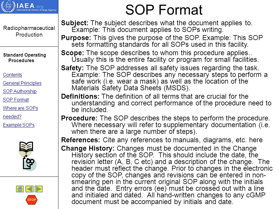 writing an sop Effective standard operating procedures (sops) obtain quality, desired outcomes, and a better business learn what exactly sops are and how to write them.