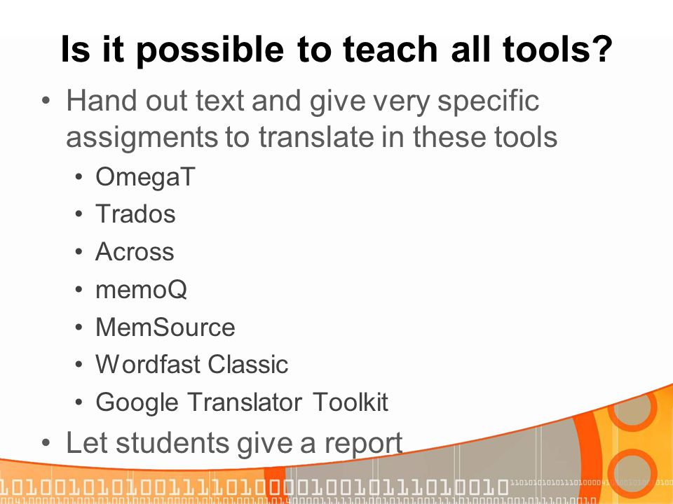 Is it possible to teach all tools