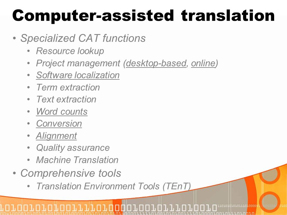 Computer-assisted translation