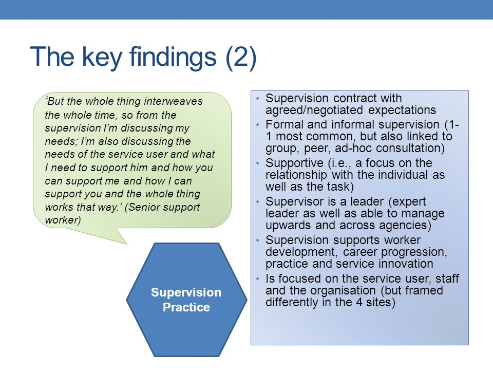 The key findings (2)