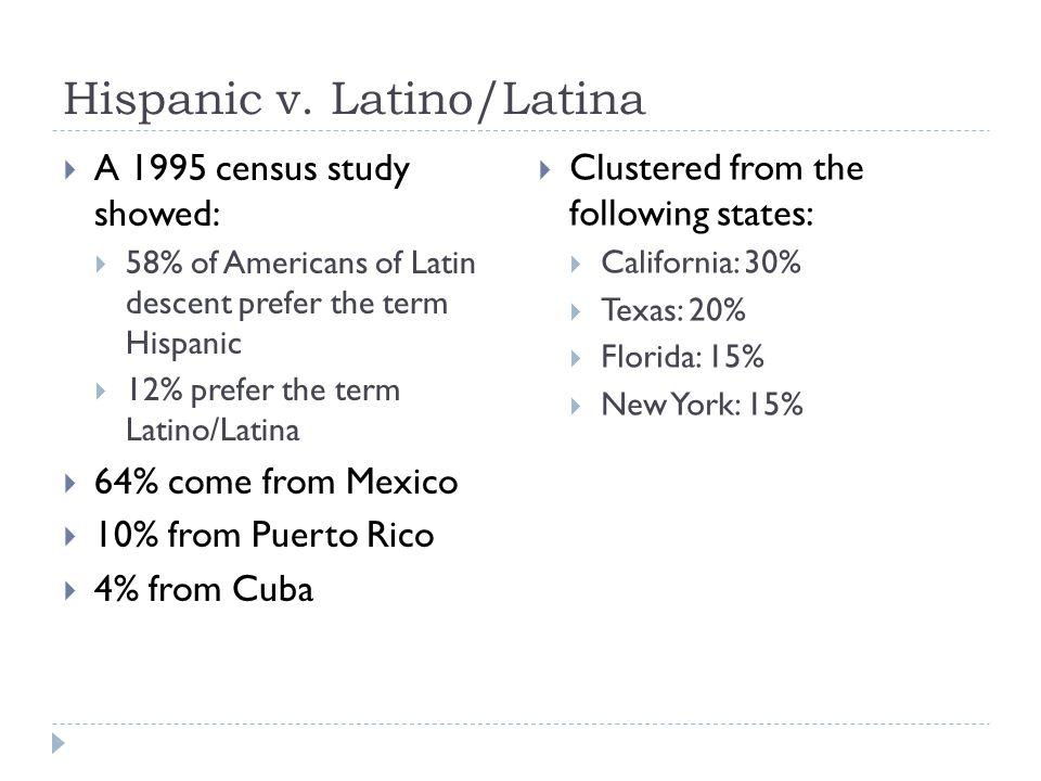Hispanic v. Latino/Latina