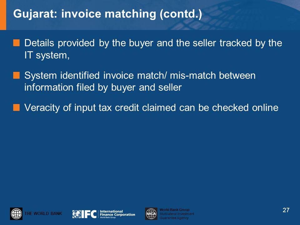Gujarat: invoice matching (contd.)