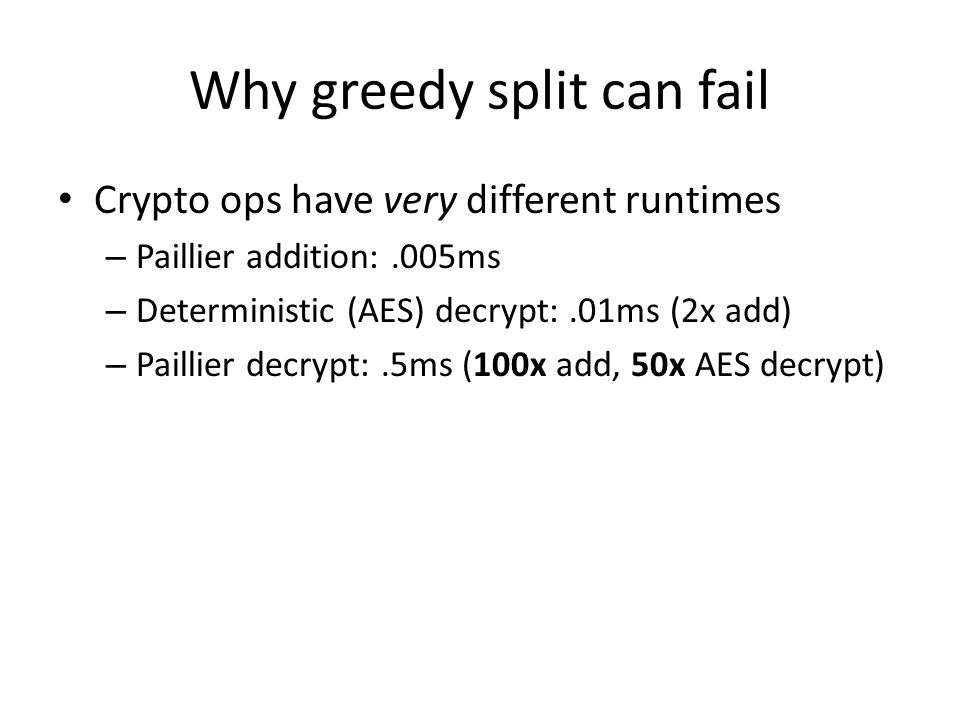 Why greedy split can fail