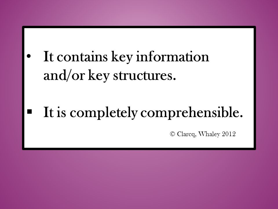 It contains key information and/or key structures.