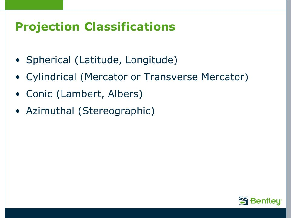 Projection Classifications