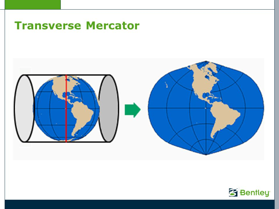 Transverse Mercator The Transverse Mercator map projection was developed and presented by Johann Lambert in 1772.