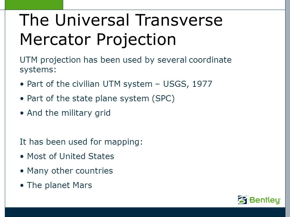 The Universal Transverse Mercator Projection