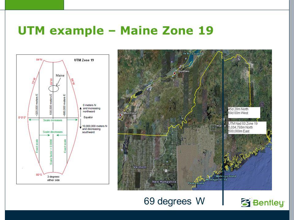 UTM example – Maine Zone 19