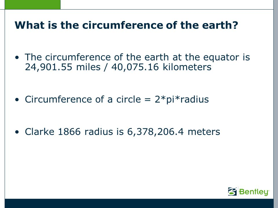 What is the circumference of the earth