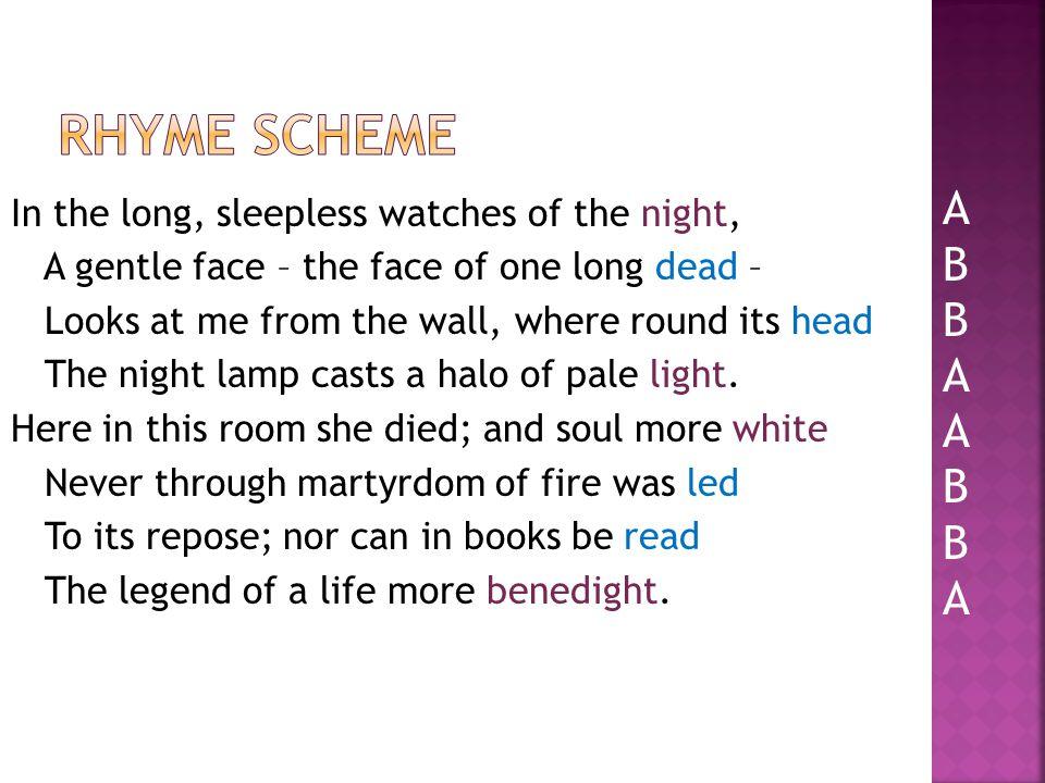 Rhyme scheme A. B.