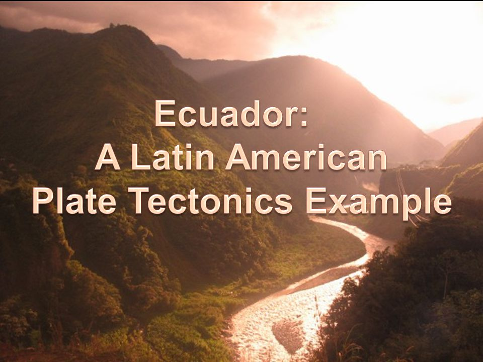 Plate Tectonics Example