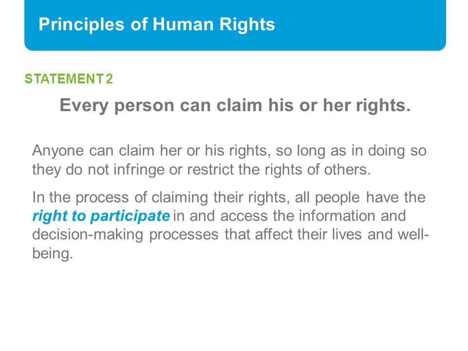 Principles of Human Rights