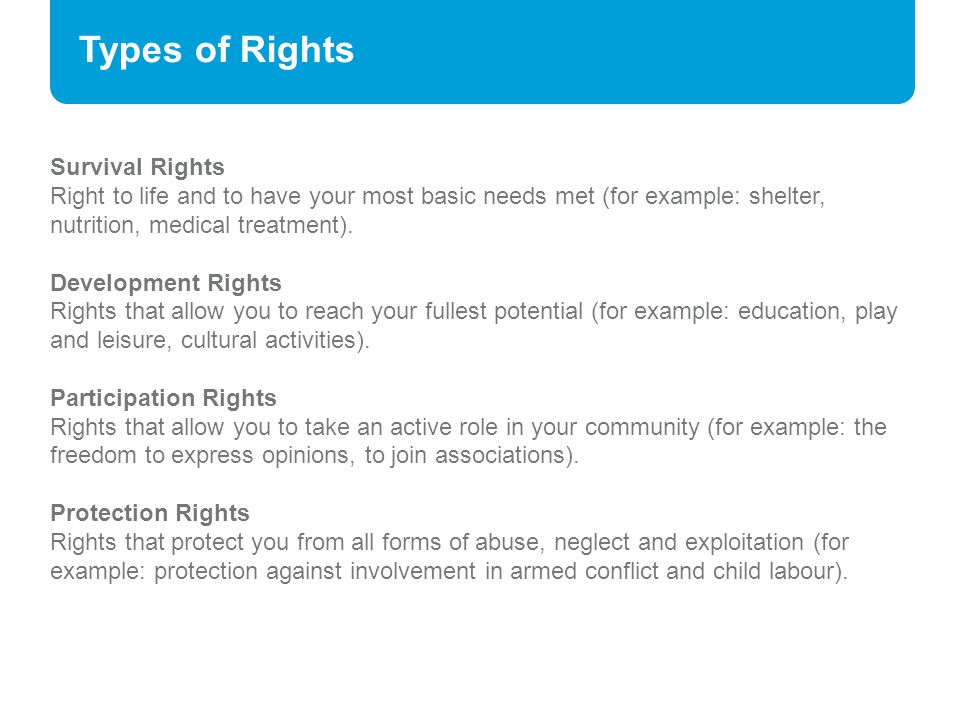 Types of Rights Survival Rights