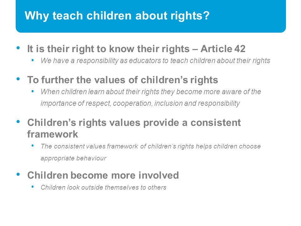 Why teach children about rights