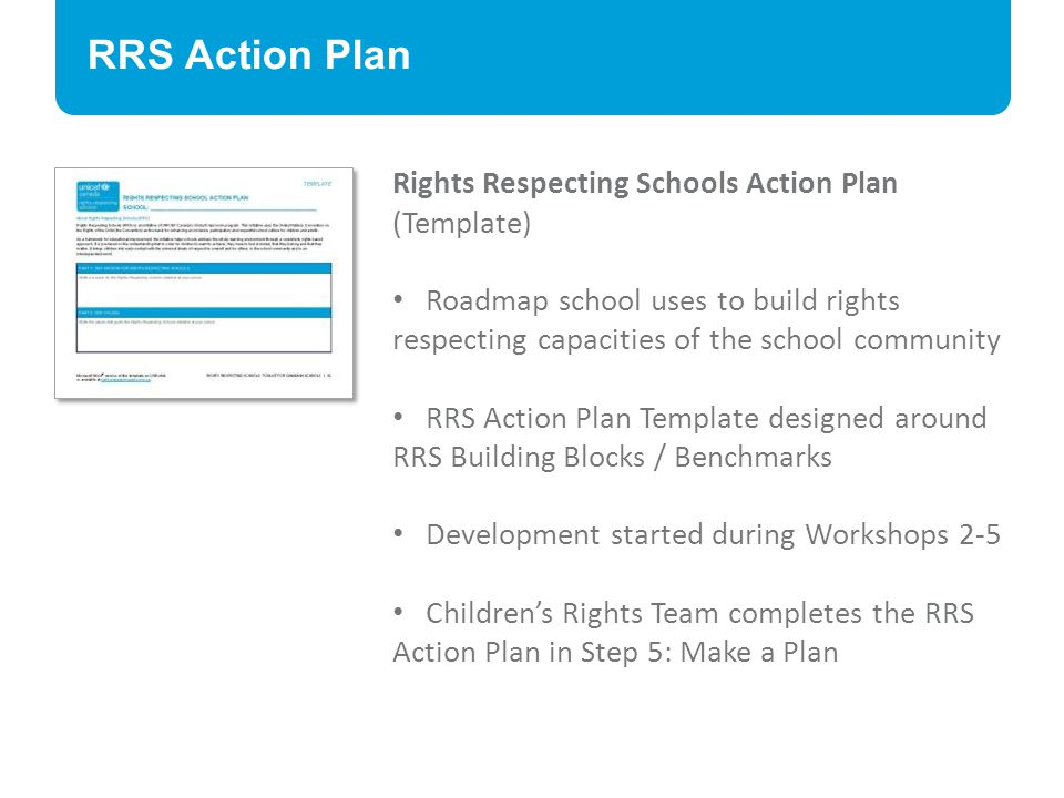 RRS Action Plan Rights Respecting Schools Action Plan (Template)