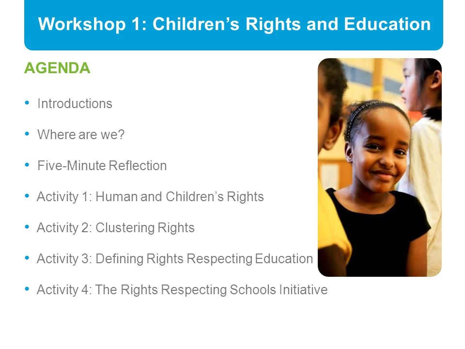 Workshop 1: Children's Rights and Education