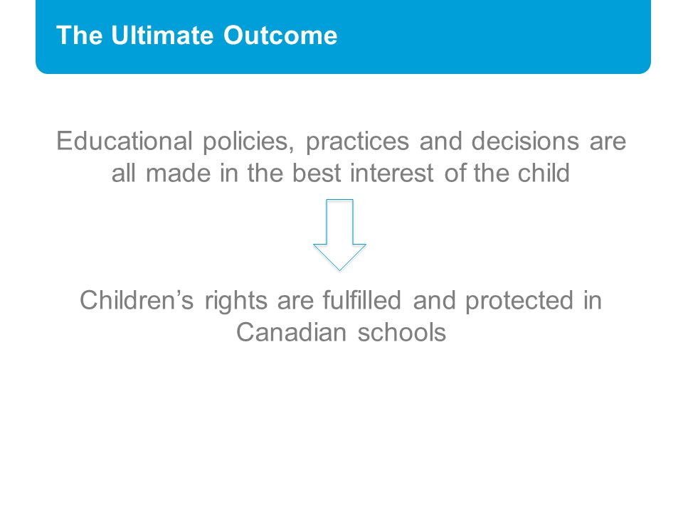 Children's rights are fulfilled and protected in Canadian schools