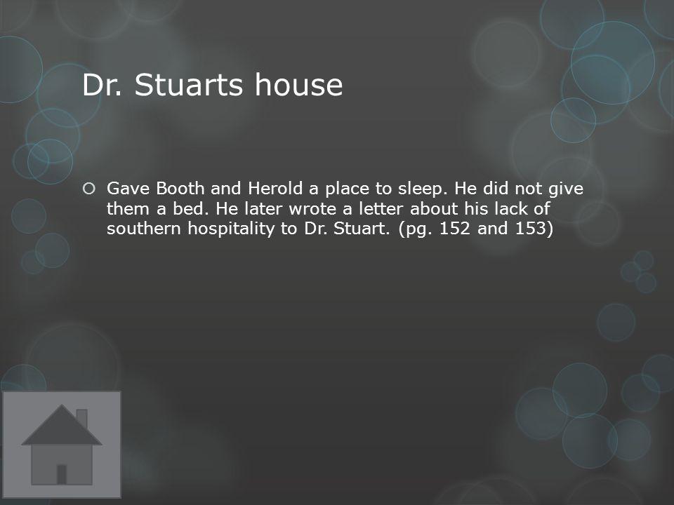 Dr. Stuarts house