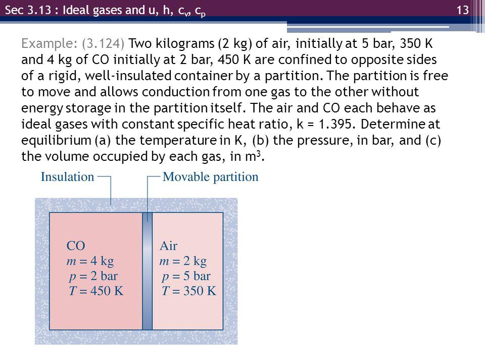 Sec 3.13 : Ideal gases and u, h, cv, cp