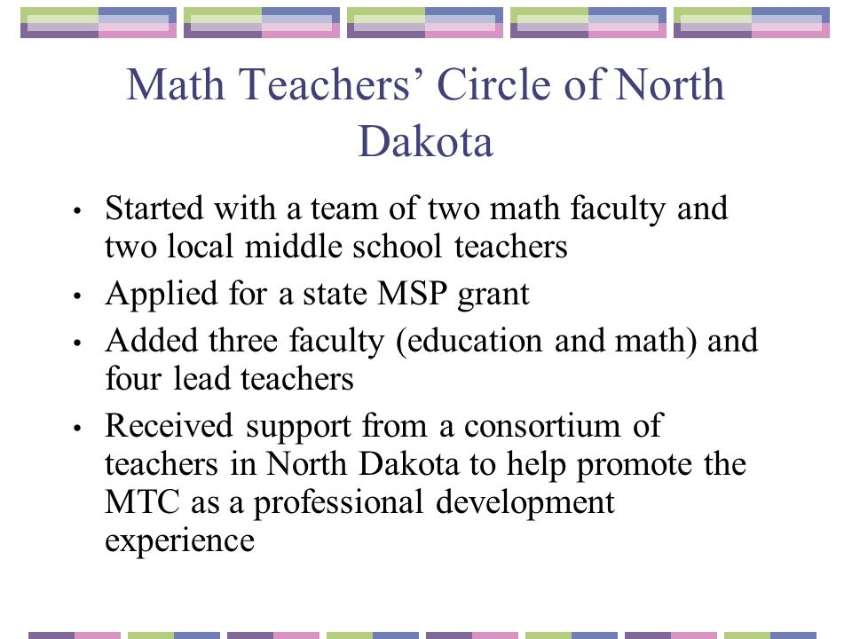 Math Teachers' Circle of North Dakota