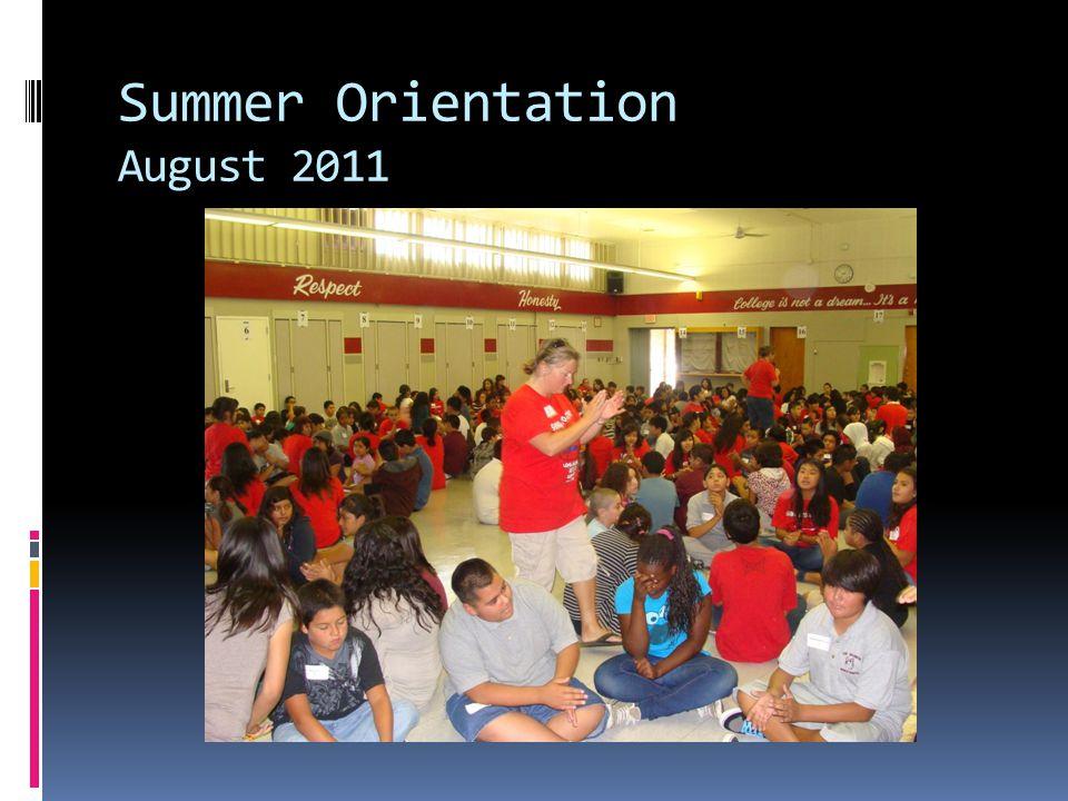 Summer Orientation August 2011