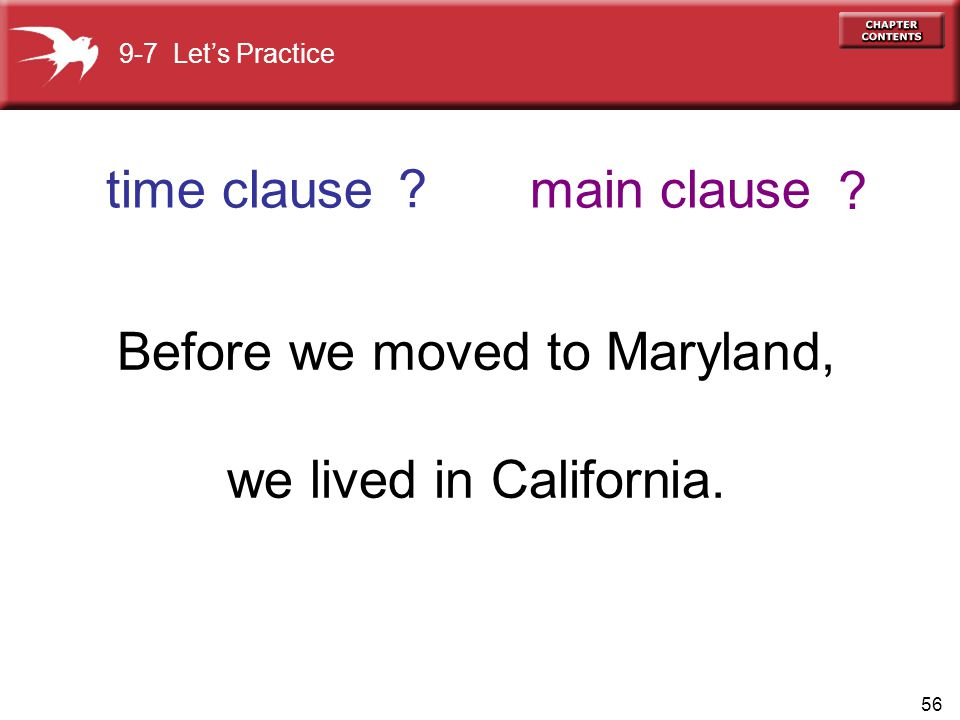 Before we moved to Maryland,