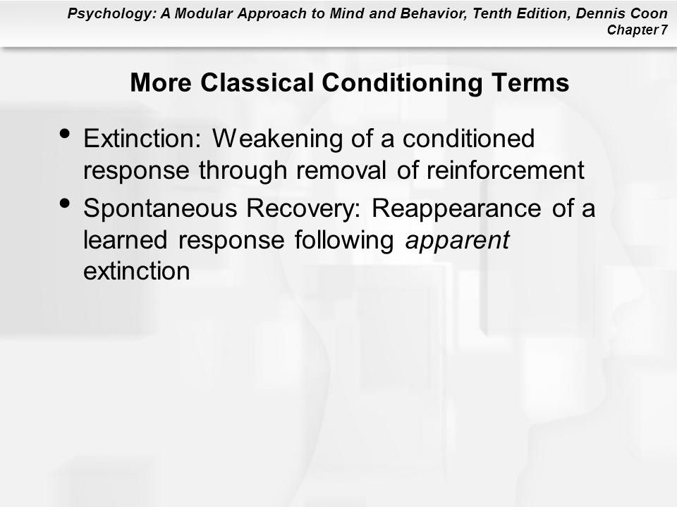 More Classical Conditioning Terms