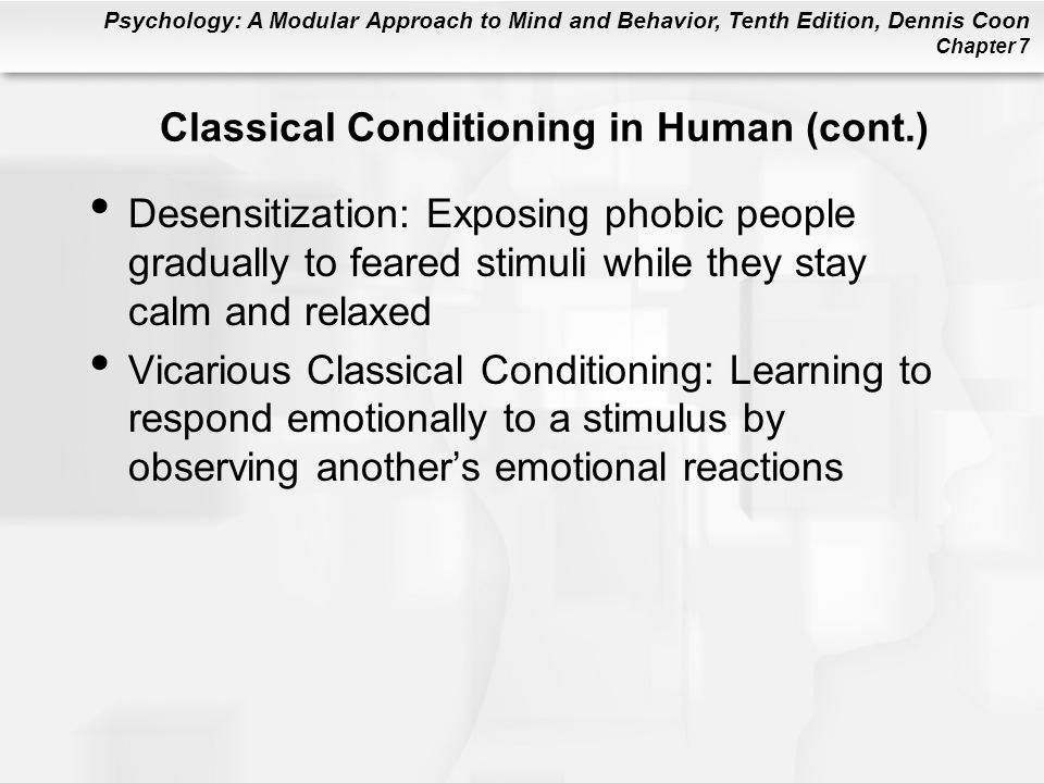 Classical Conditioning in Human (cont.)