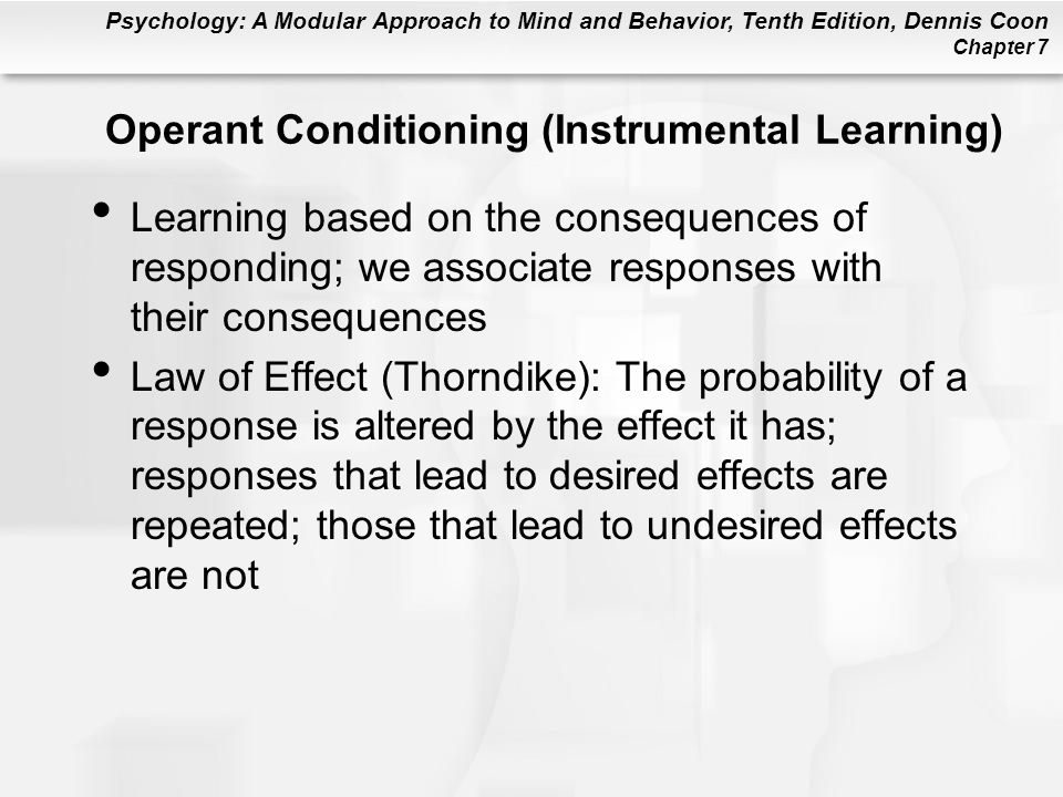 Operant Conditioning (Instrumental Learning)