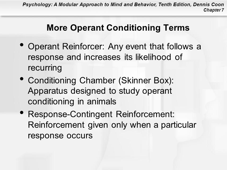 More Operant Conditioning Terms