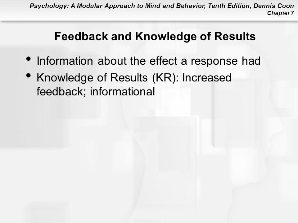 Feedback and Knowledge of Results