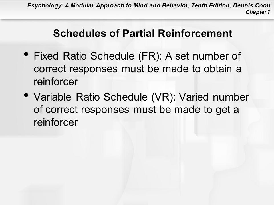 Schedules of Partial Reinforcement