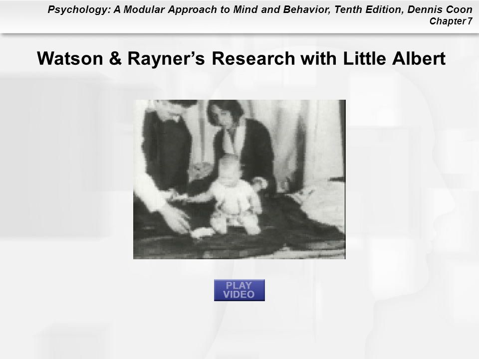 Watson & Rayner's Research with Little Albert