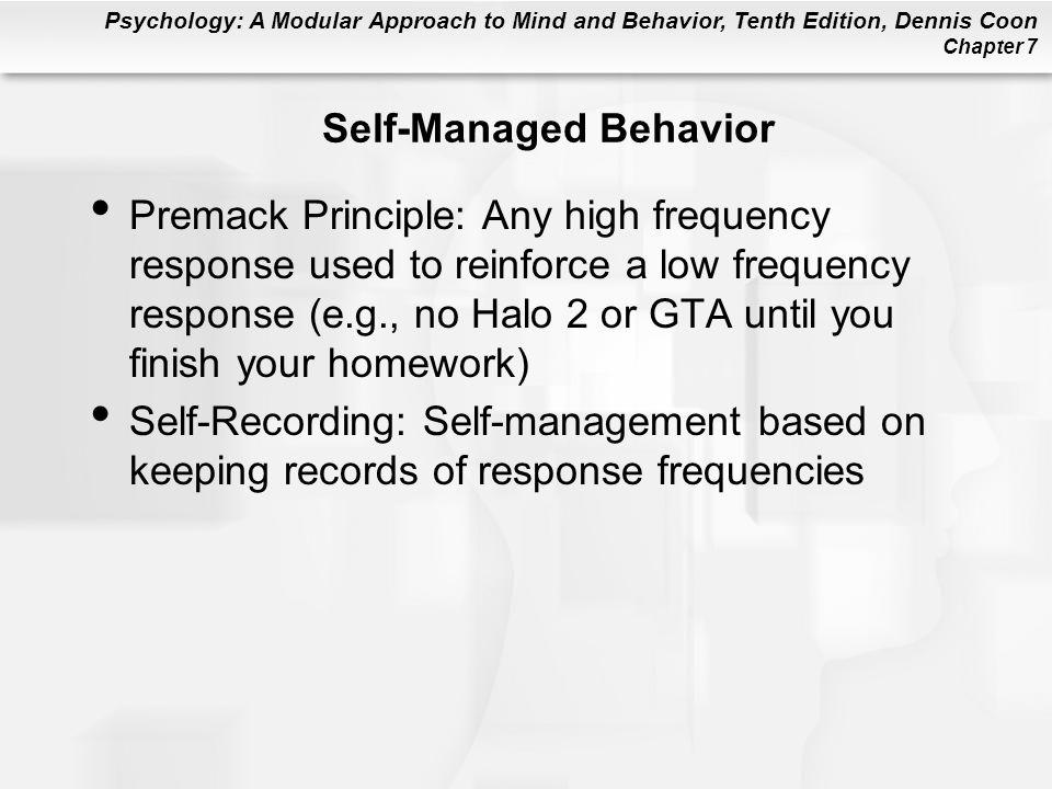 Self-Managed Behavior