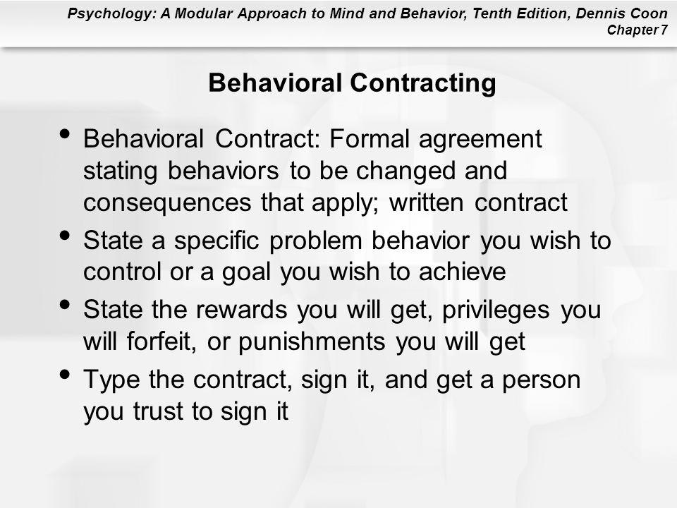 Behavioral Contracting