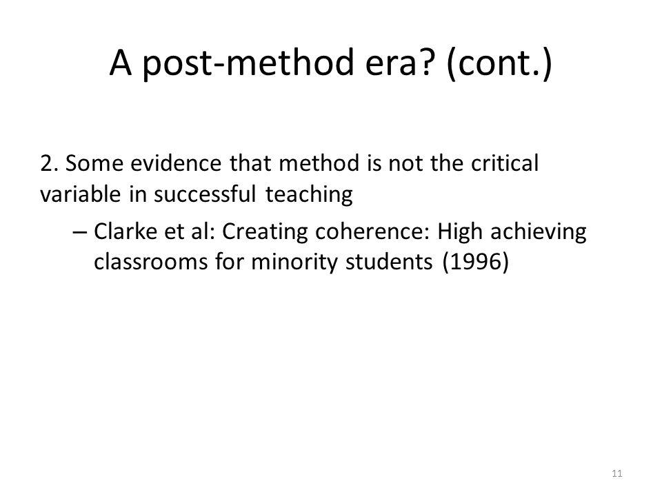 A post-method era (cont.)