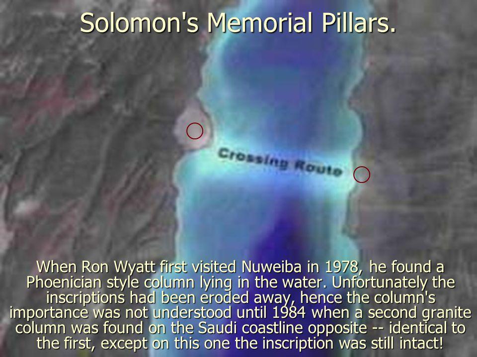 Solomon s Memorial Pillars.