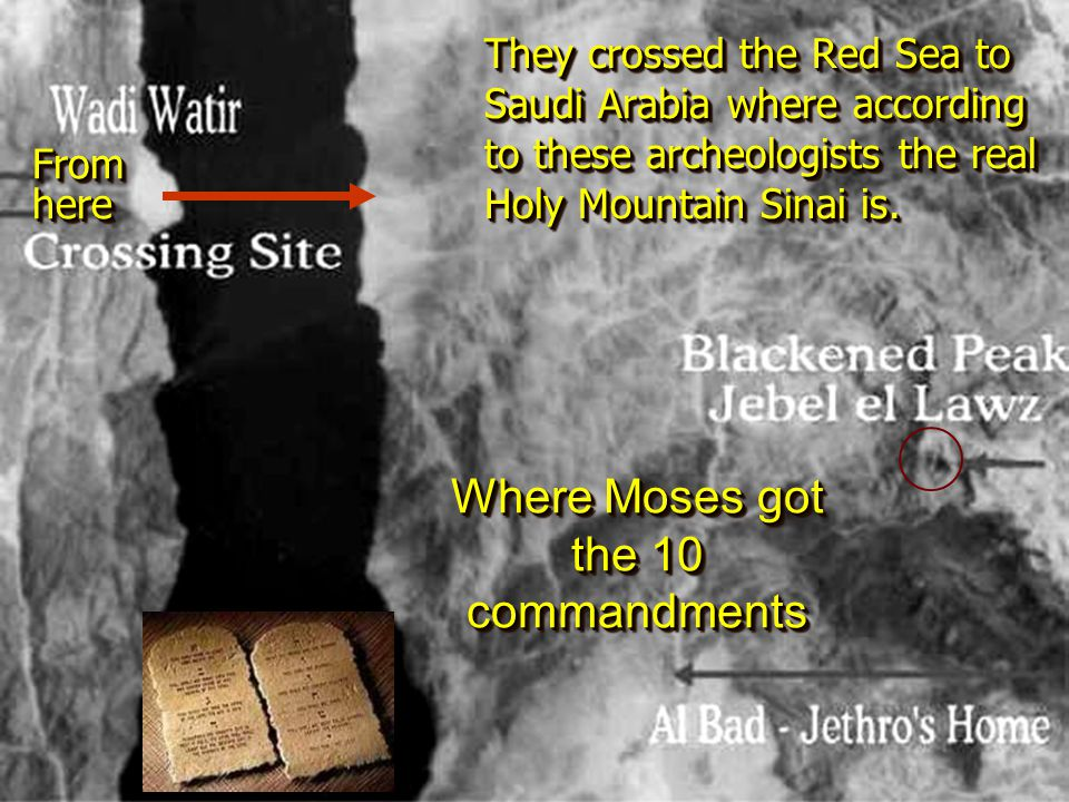 Where Moses got the 10 commandments
