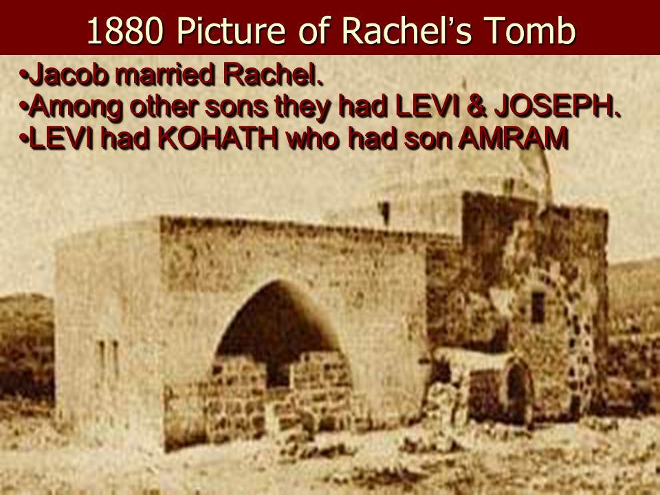 1880 Picture of Rachel's Tomb