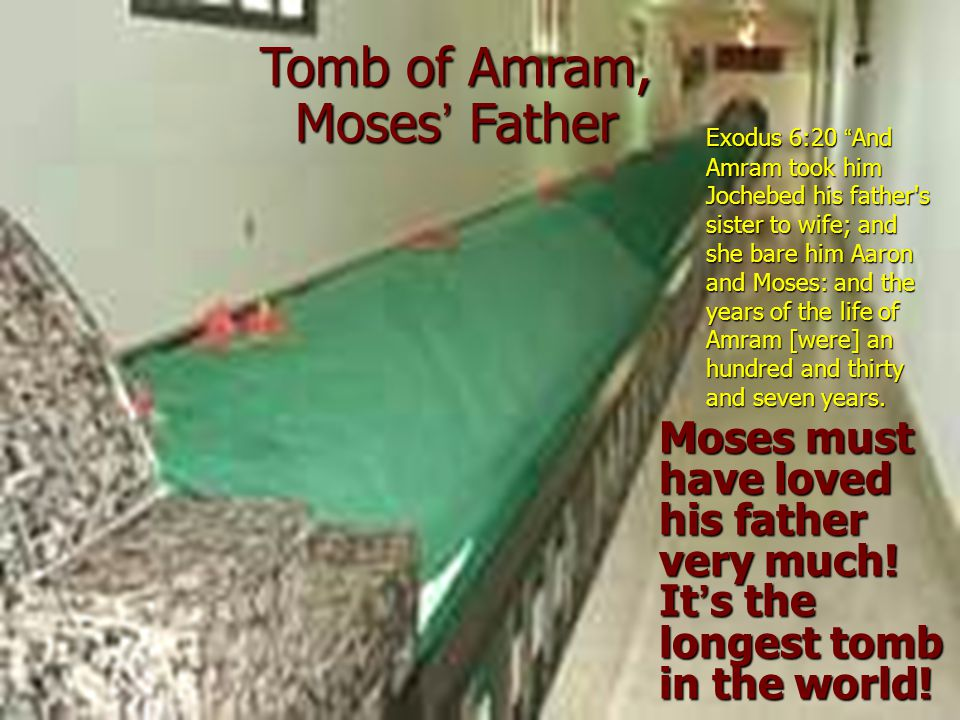 Tomb of Amram, Moses' Father