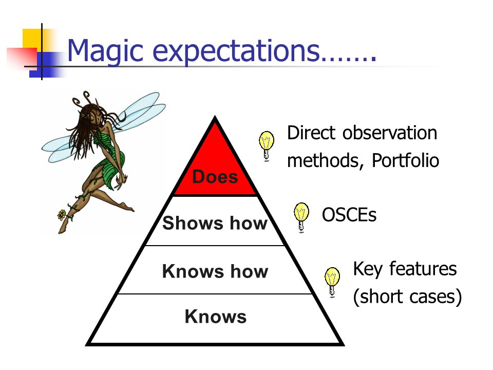 Magic expectations……. Direct observation methods, Portfolio Does Does