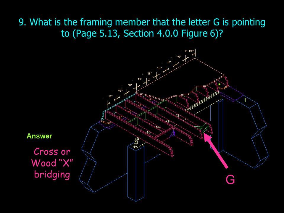 Cross or Wood X bridging