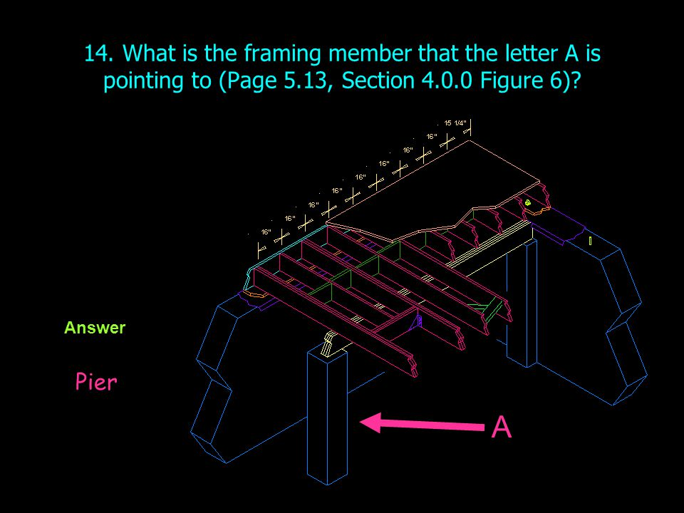 14. What is the framing member that the letter A is pointing to (Page 5.13, Section 4.0.0 Figure 6)