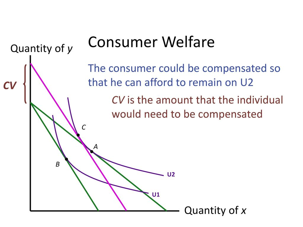 Consumer Welfare Quantity of y