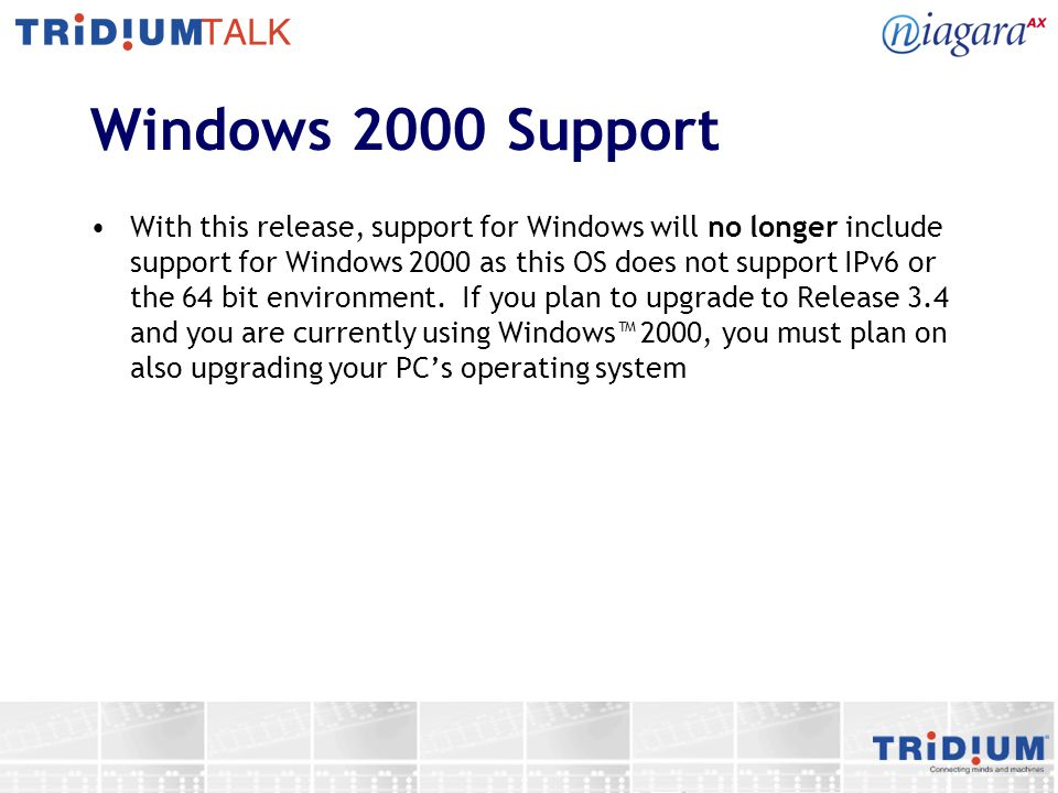 Windows 2000 Support