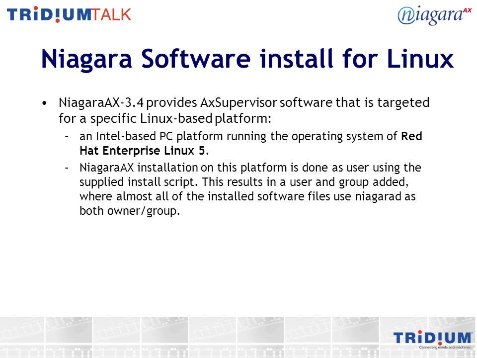 Niagara Software install for Linux