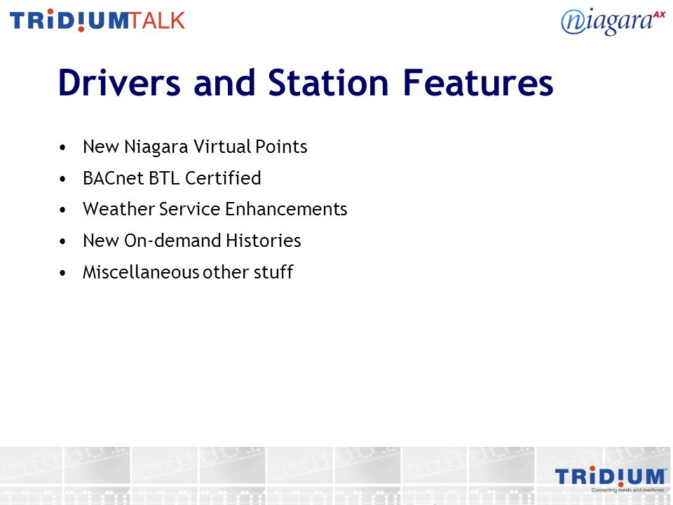 Drivers and Station Features